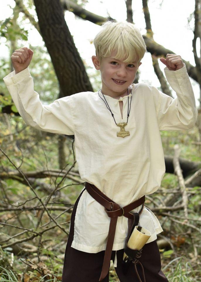 Mittelaltertunika für Kinder natur 128