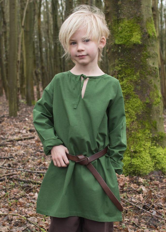 Mittelaltertunika für Kinder grün 110