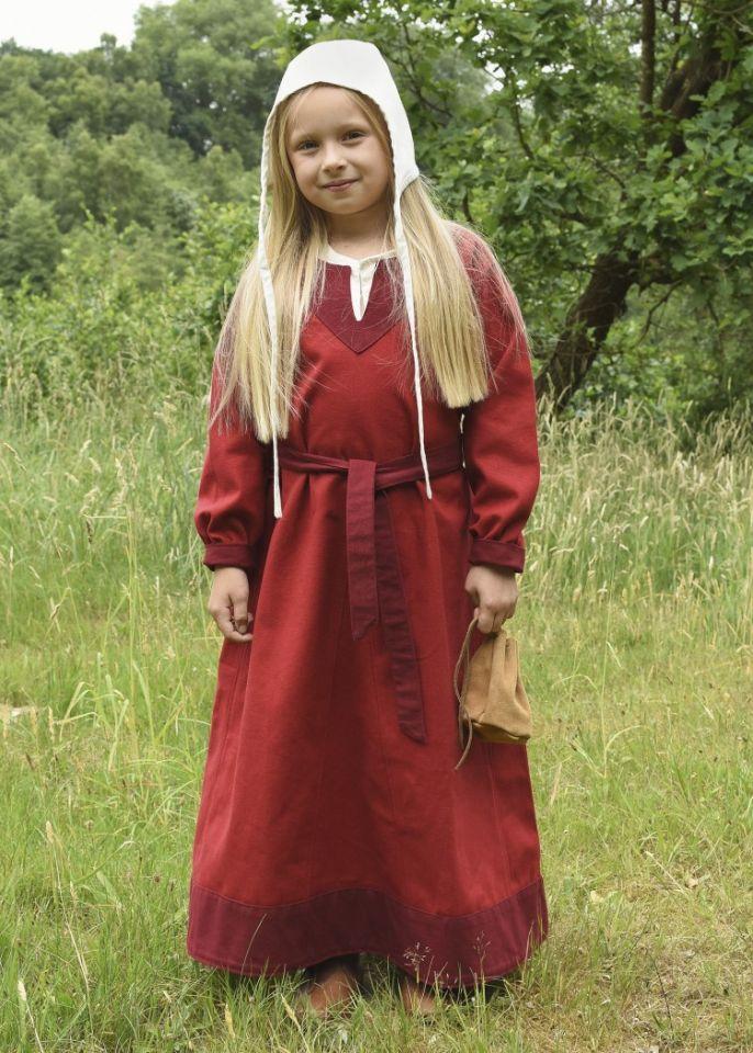 Wikingerkleid für Kinder rot/weinrot