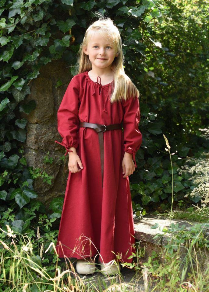 Kinder-Unterkleid Mara rot