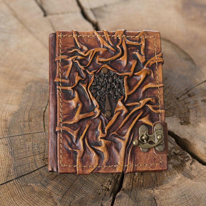 Lederbuch Baum klein