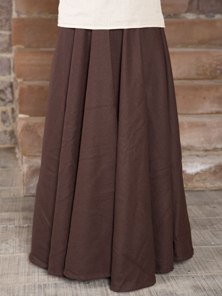Mittelalterrock aus Wolle braun