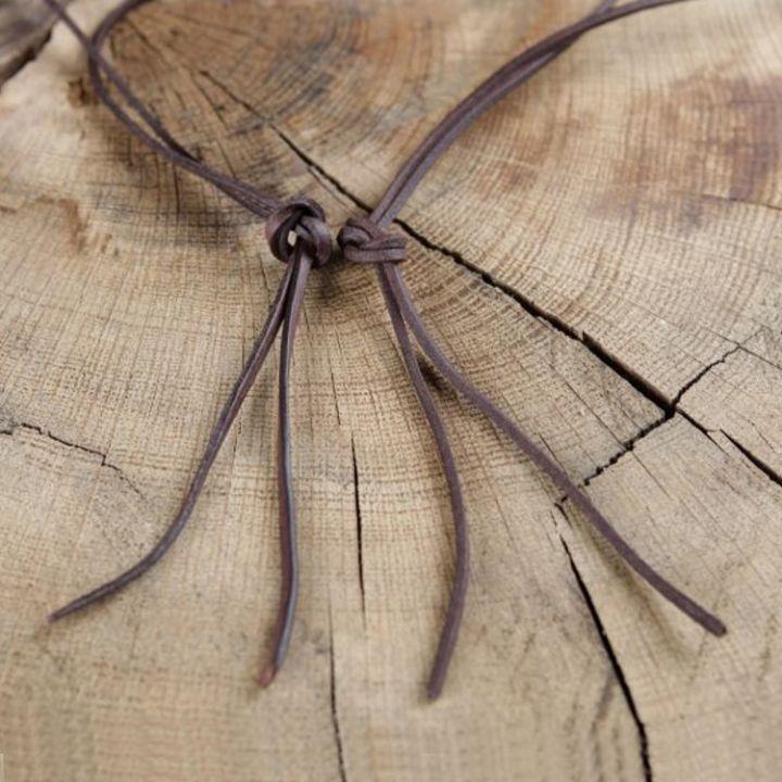 Lederriemen, Lederschnur - 2 Meter - rechteckig natur