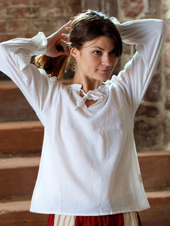 Bluse mit Schnürung weiß