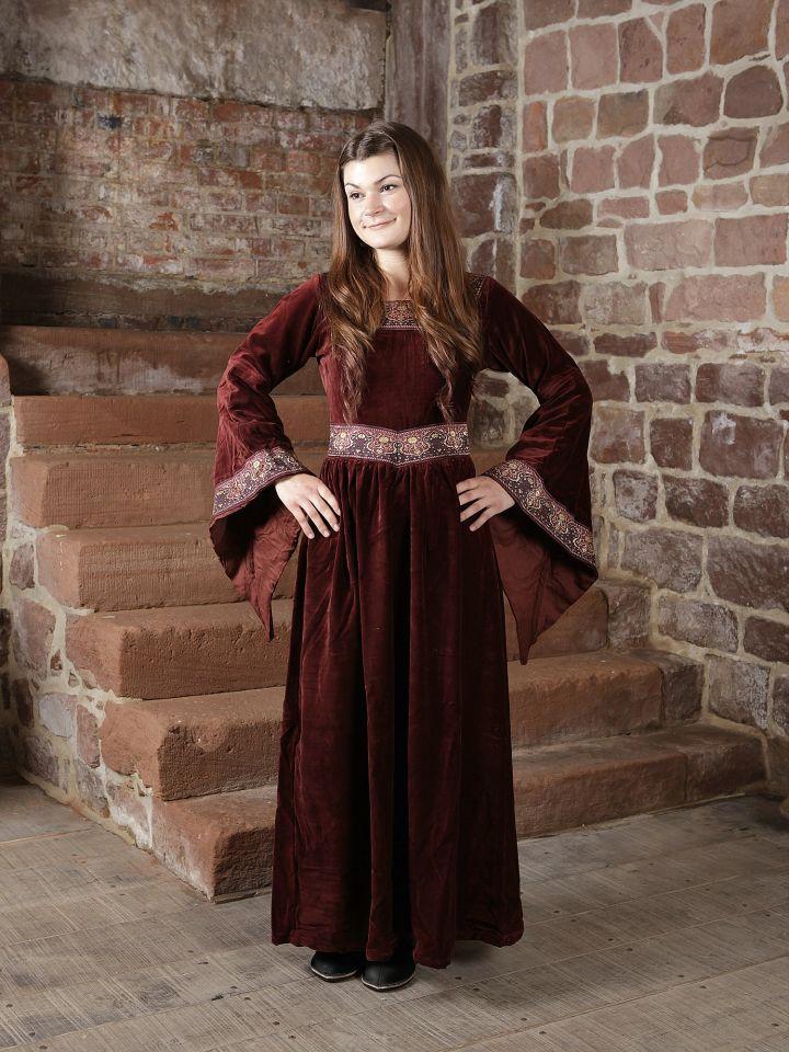 Kleid Burgund