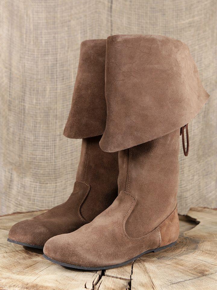 Stiefel mit Stulpe aus Wildleder