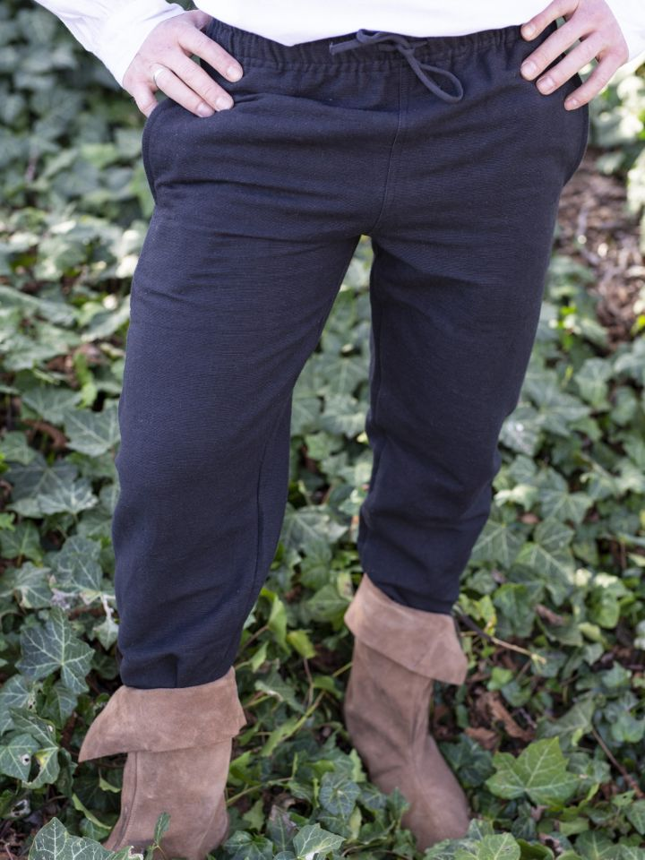 Mittelalterhose aus grober Baumwolle schwarz