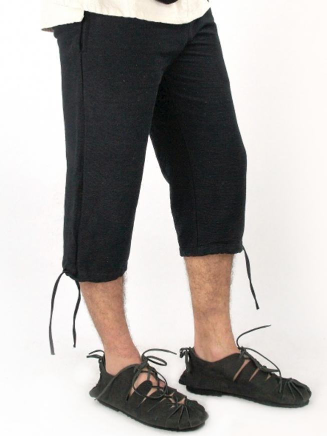 Einfache Kniebundhose schwarz XL