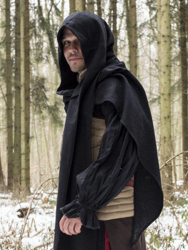 Schal-Gugel schwarz