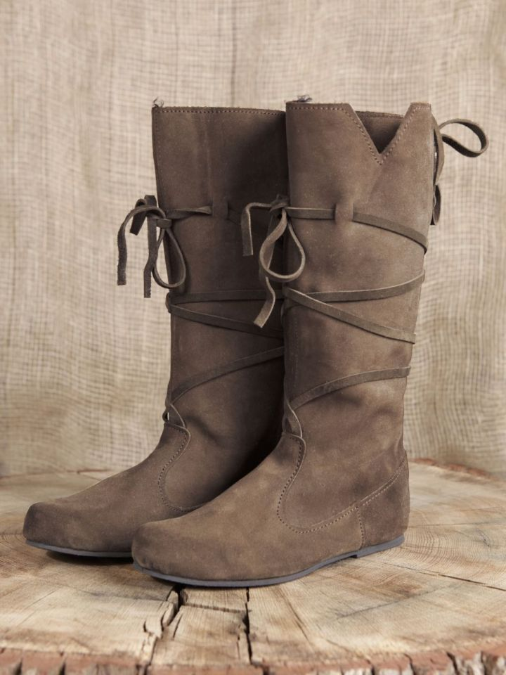 Hohe Stiefel aus Wildleder braun 42