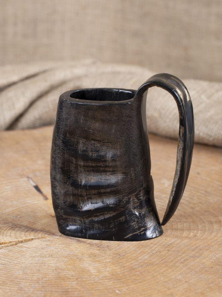Henkelbecher aus Horn 12,5 cm