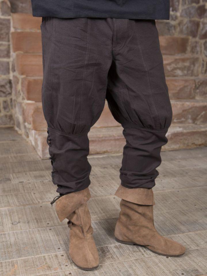 Hose mit Beinschnürung braun S