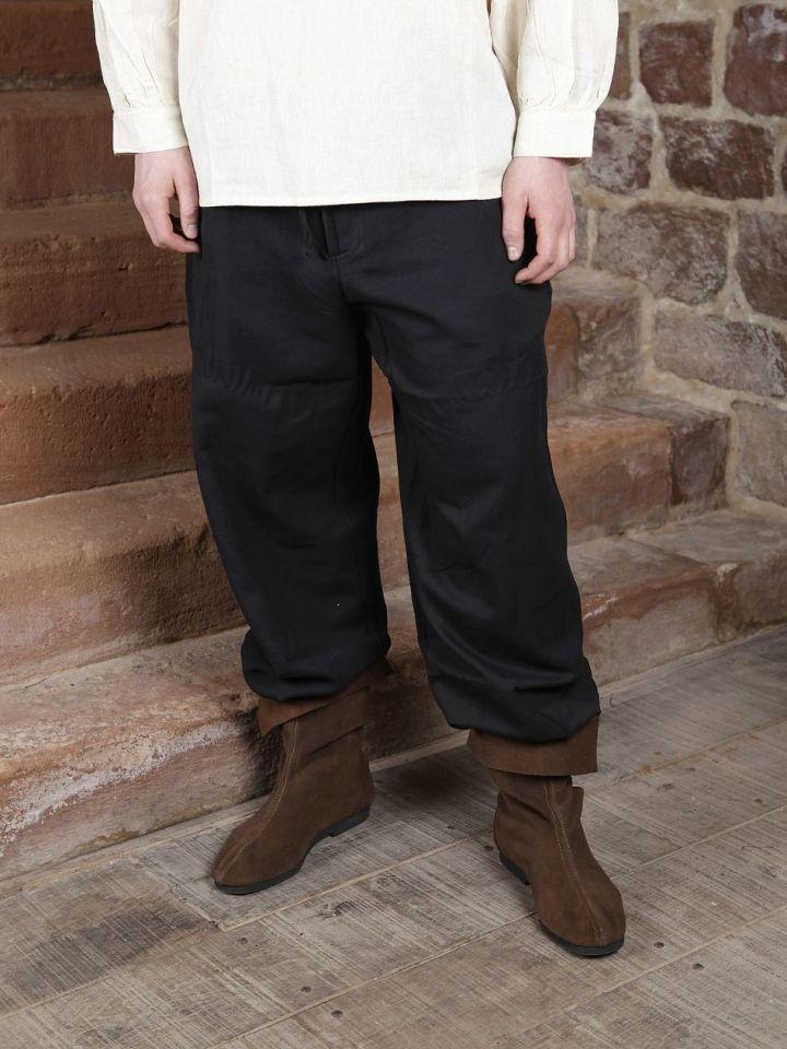 Baumwollhose mit Schnürung schwarz