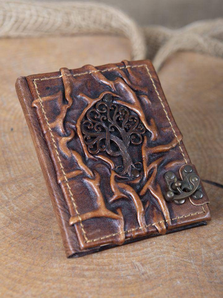 Lederbuch Olivenbaum klein