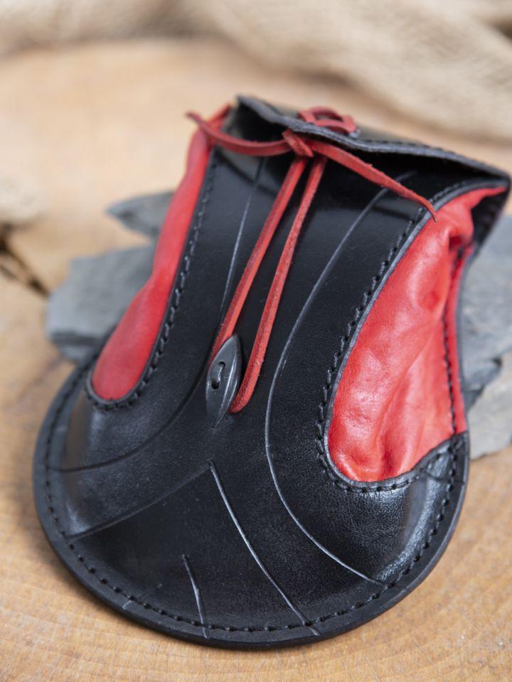 Gürteltasche Elfen schwarz-rot