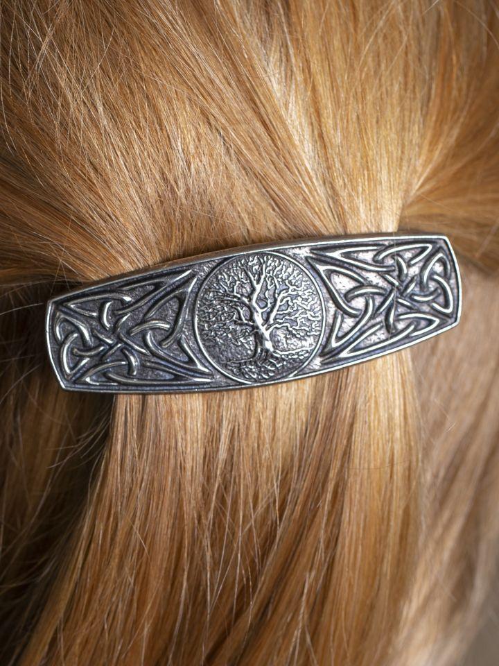 Haarspange mit Weltenbaum