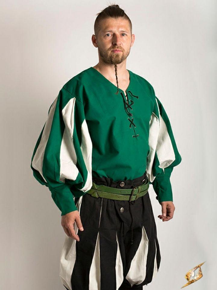 Hemd Landsknecht grün-weiß M