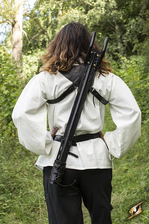 Rücken-Schwerthalter für LARP-Schwerter schwarz