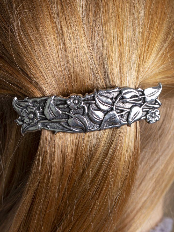 Haarspange mit Immergrün