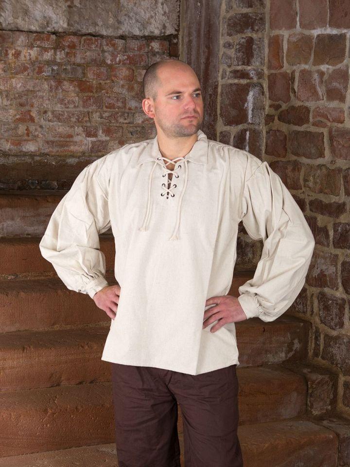 Baumwollhemd mit Kragen natur XL