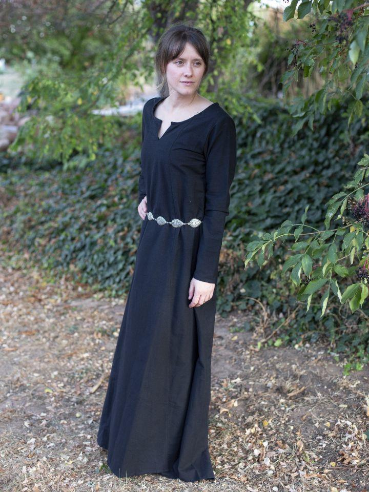 Schlichtes Unterkleid schwarz M