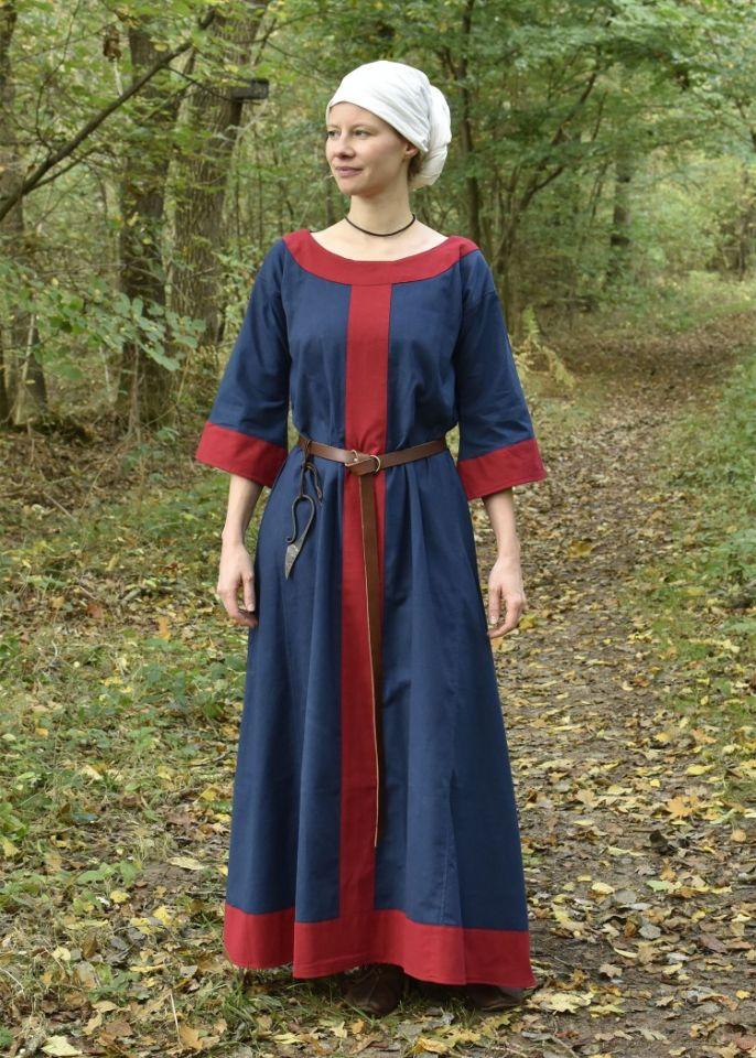 Mittelalterkleid Radegundis blau-rot