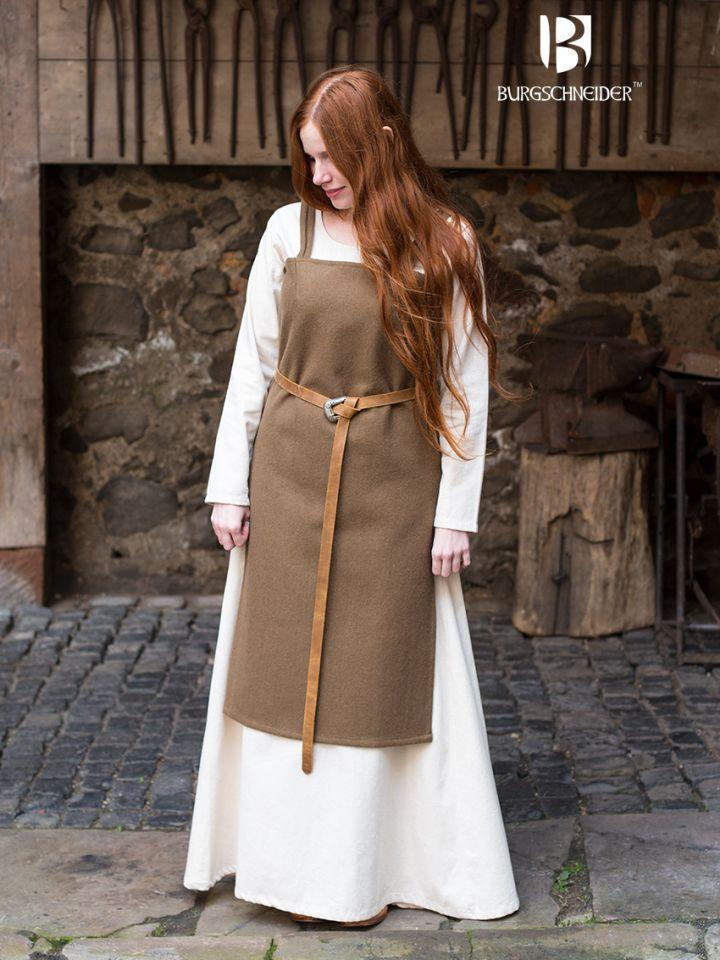 Wikingerkleid Jodis - Wolle, herbstgrün