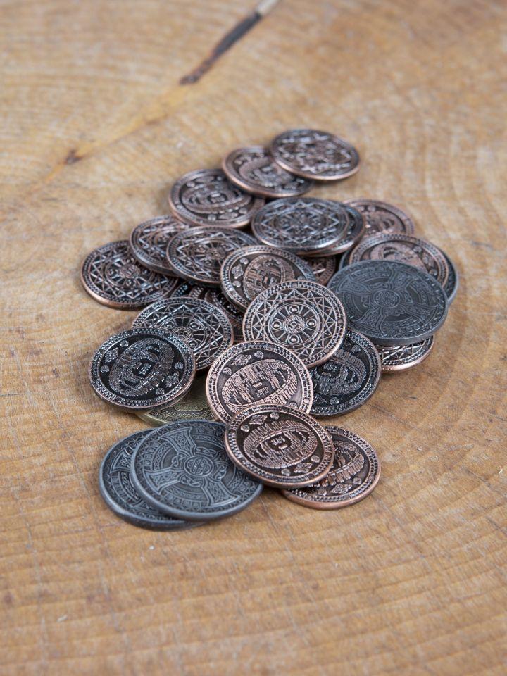LARP-Münzen Erde ohne Lederbeutel