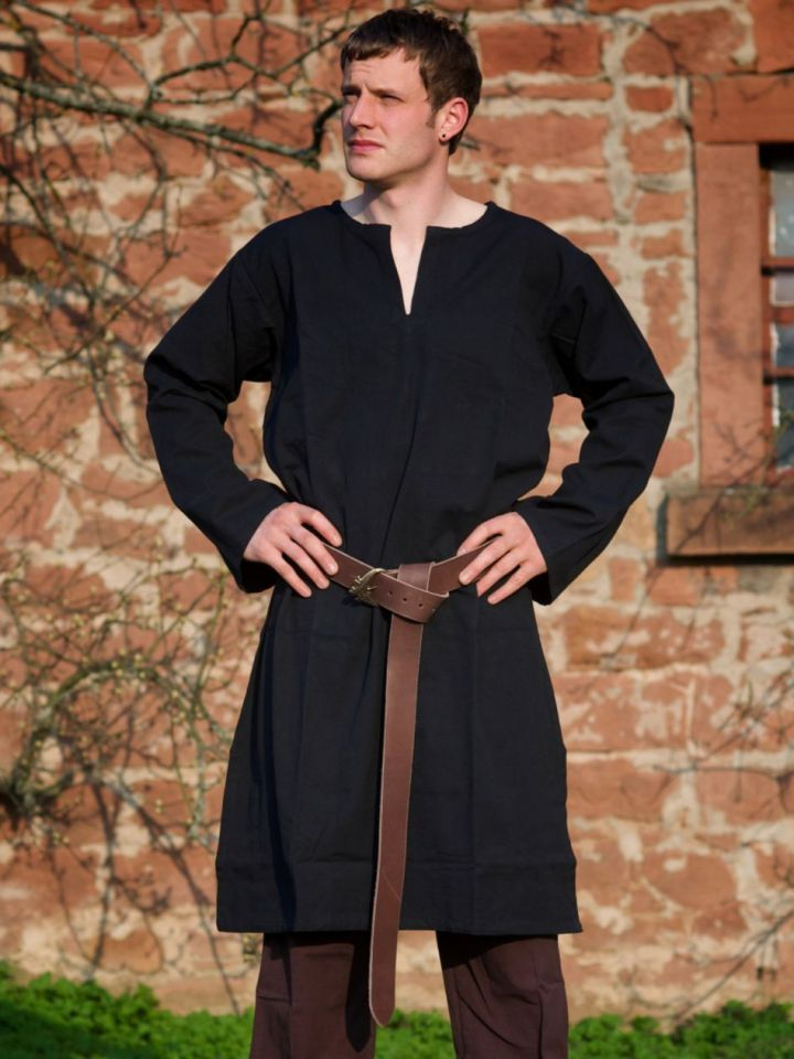 Tunika - schwarz - ohne Bordüre L