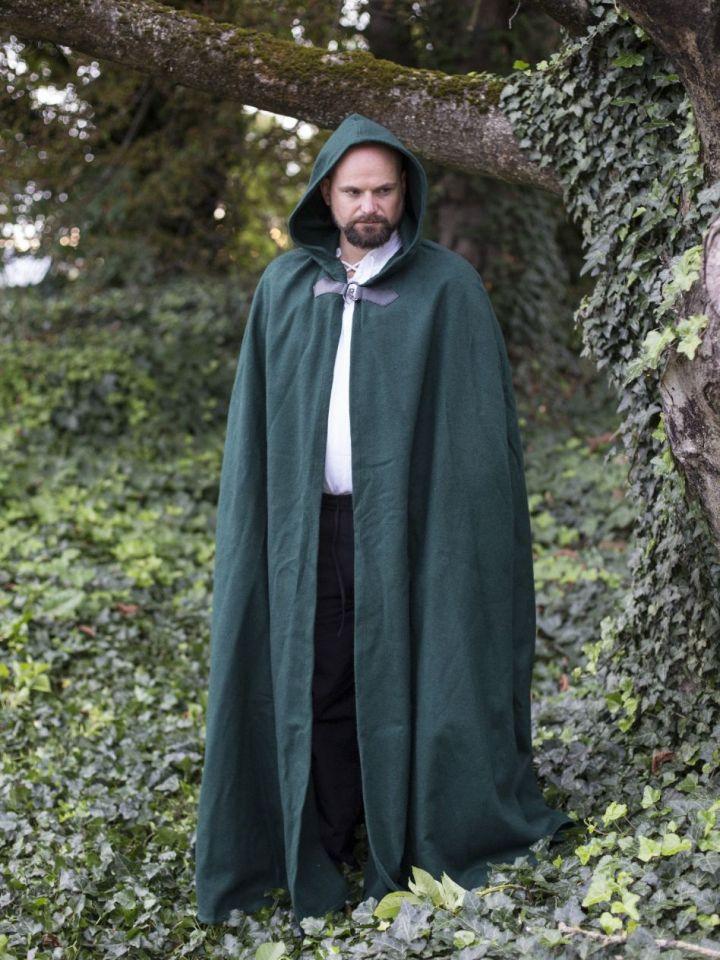Wollumhang mit Drachenspange grün 131 cm