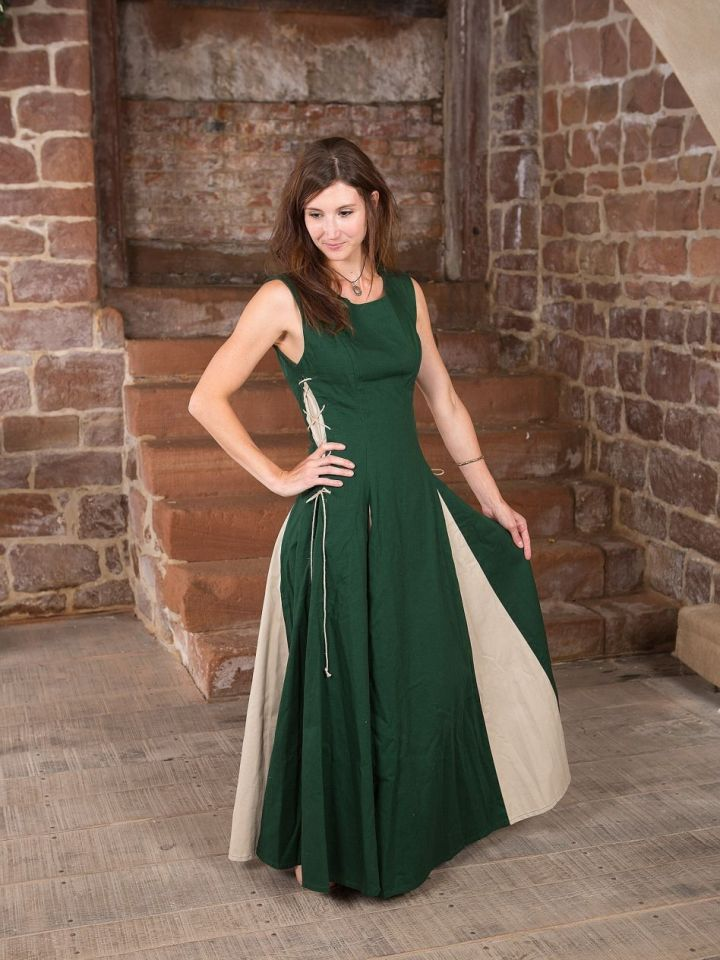 Ärmelloses Kleid grün L