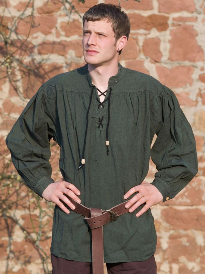 Hemd für Mittelalter / Larp -  grün XXXL