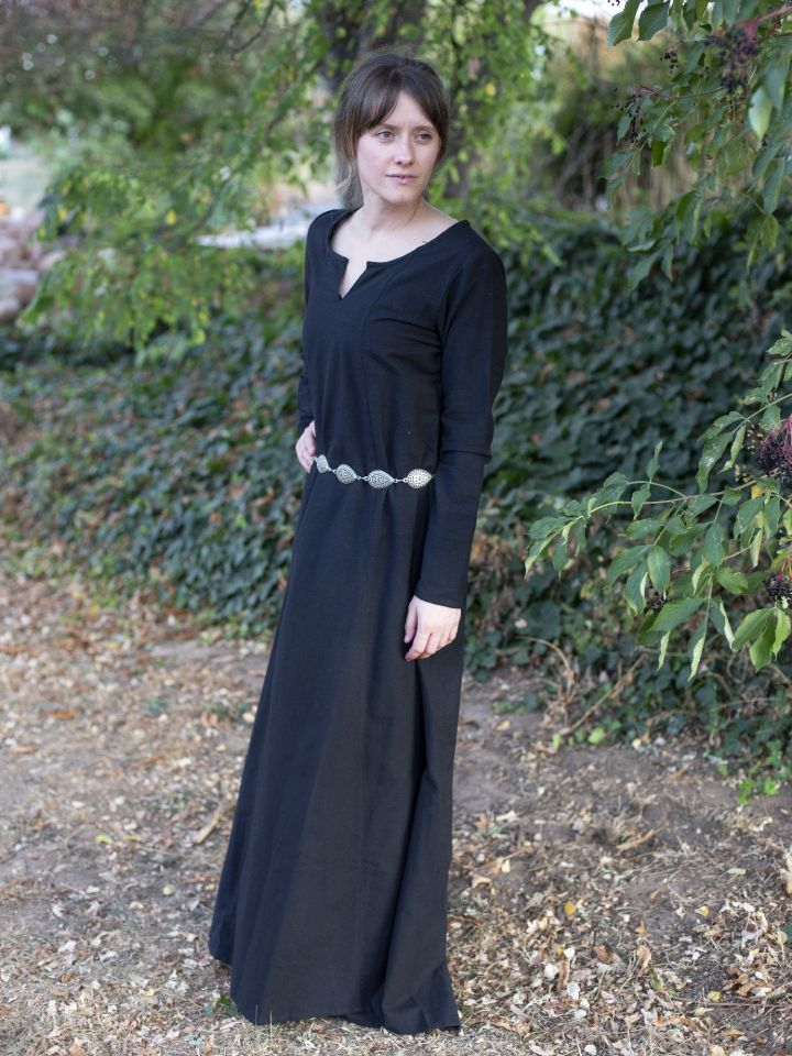 Schlichtes Unterkleid schwarz L