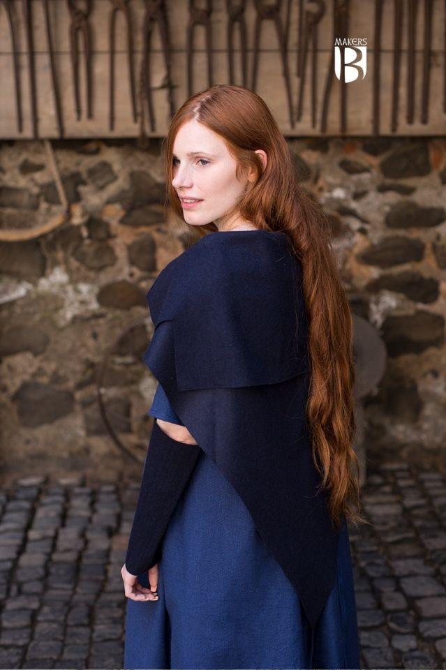 Tuch Bertrude blau