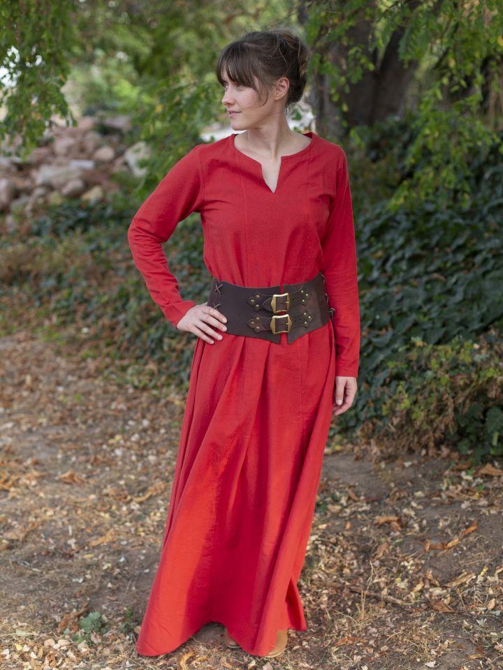 Schlichtes Unterkleid rot S