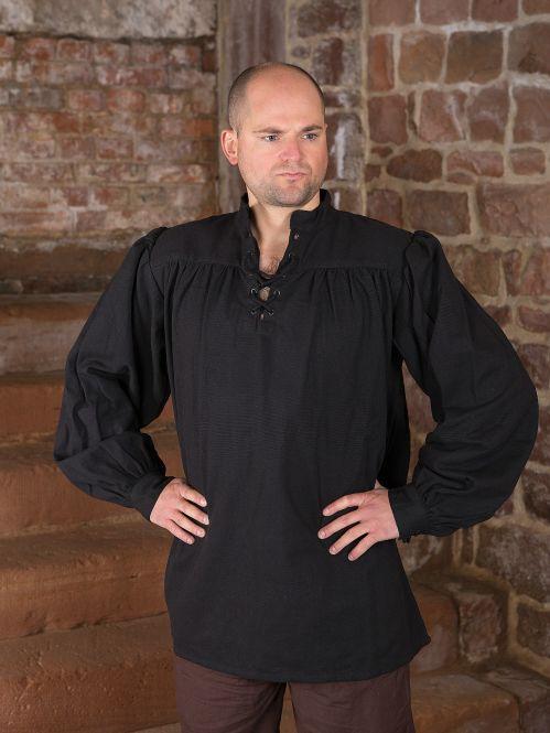 einfaches Gewandungshemd schwarz