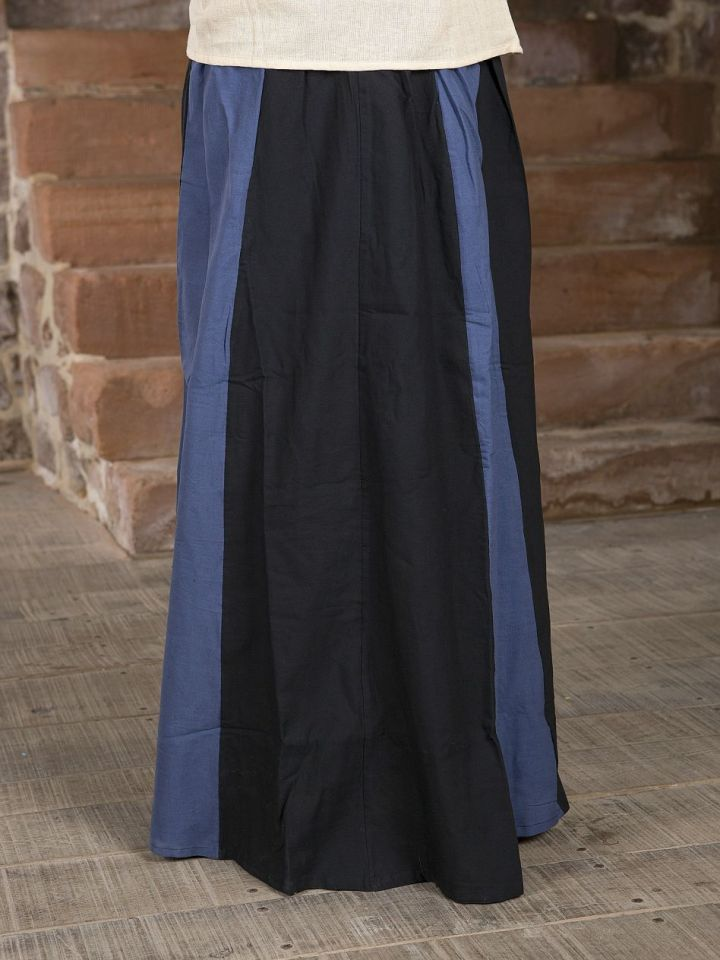 Rock für Mittelalter schwarz-blau L/XL