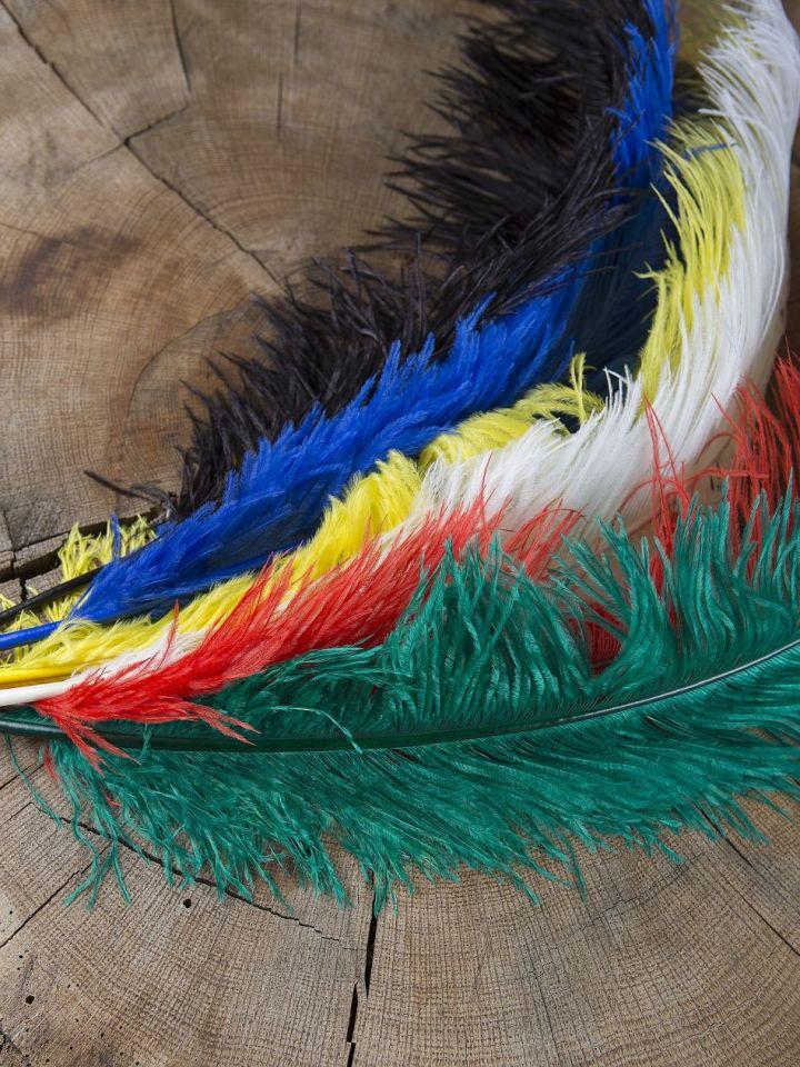 Straußenfeder 50-60 cm blau
