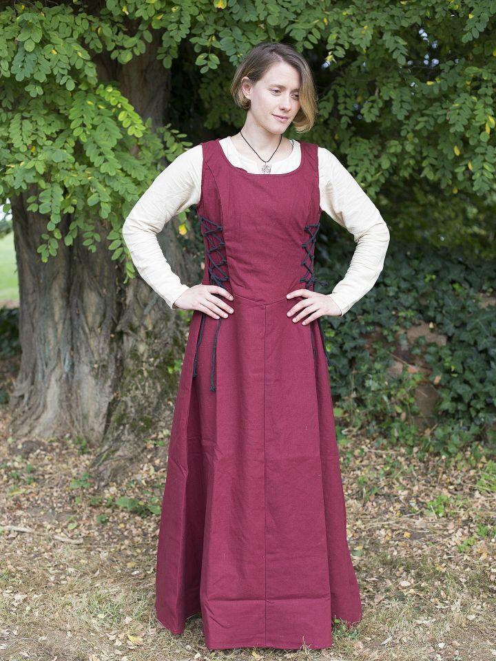 Ärmelloses Trägerkleid aus Canvas rot