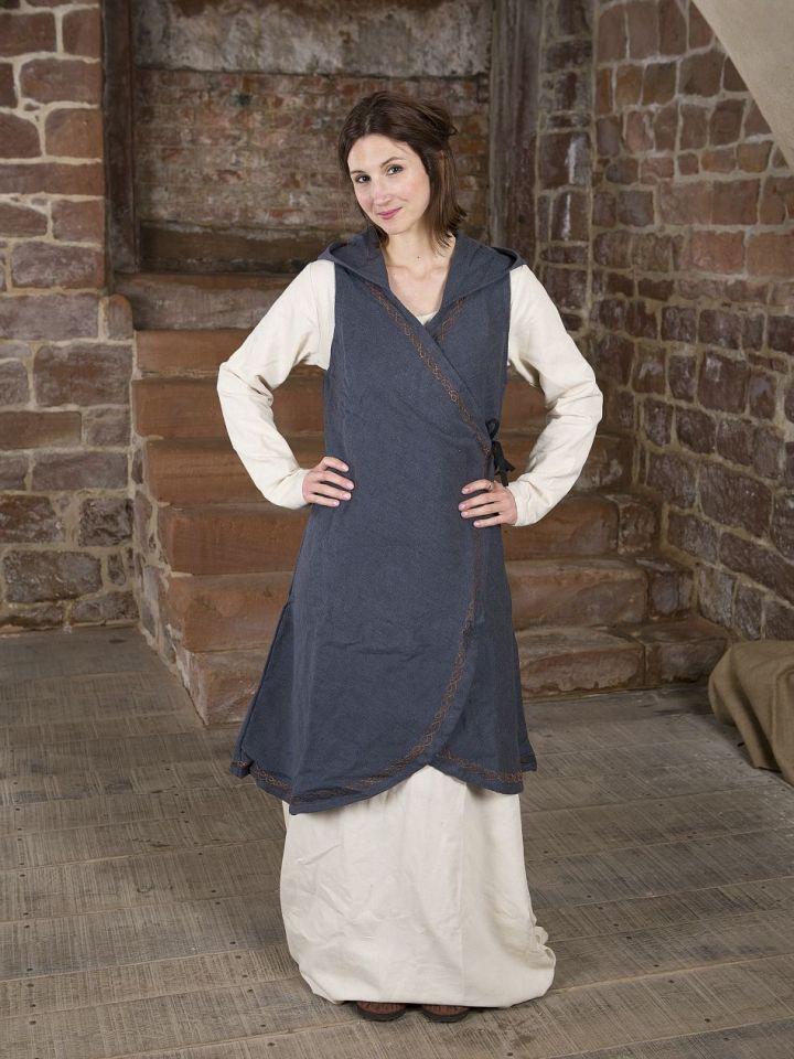 Wickelkleid Dala aus Baumwolle grau L/XL