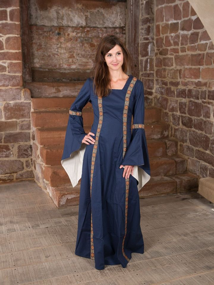 Mittelalterkleid Rahel in blau XL