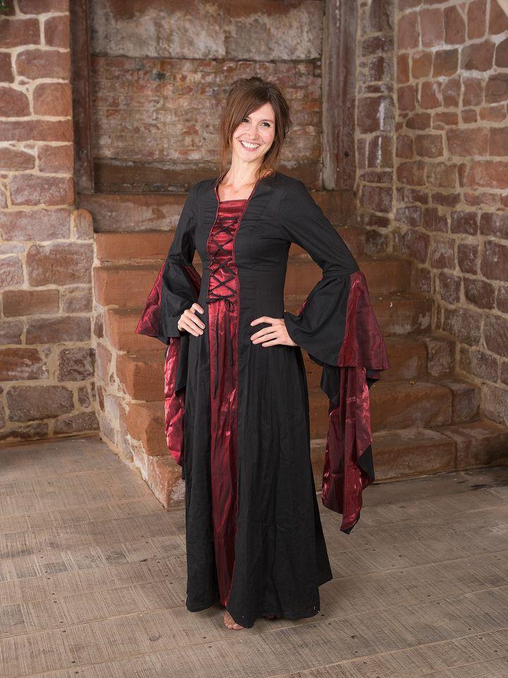 Mittelalterkleid Elisabeth in schwarz-rot