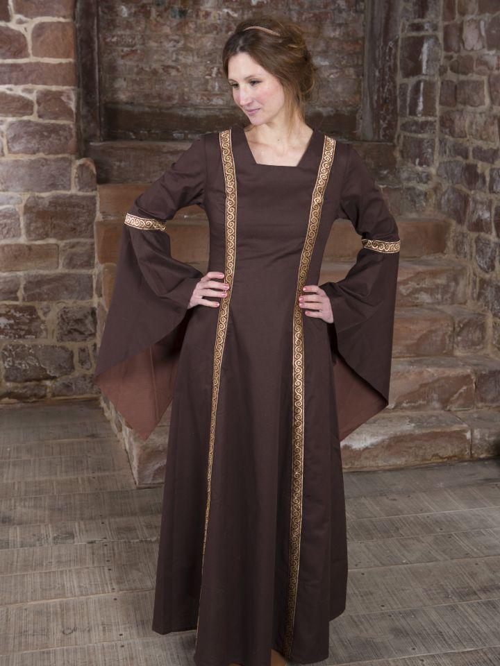 Mittelalterkleid Rahel braun