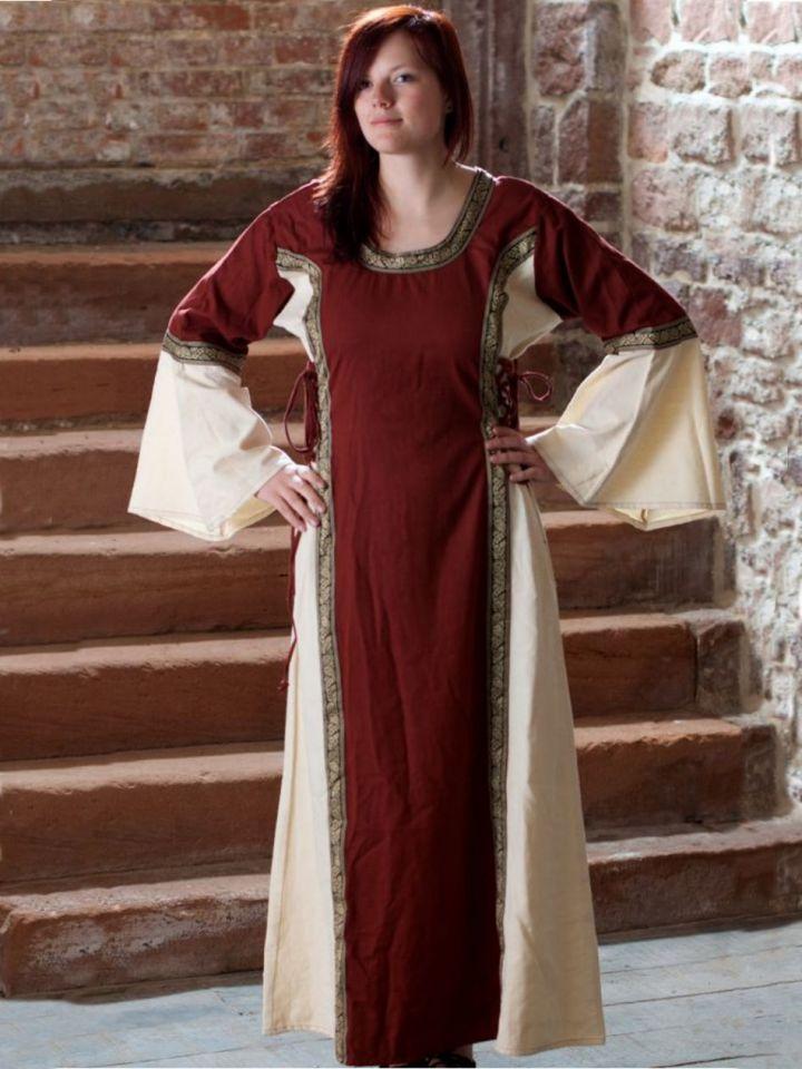 Kleid Klarissa rot-natur XXL