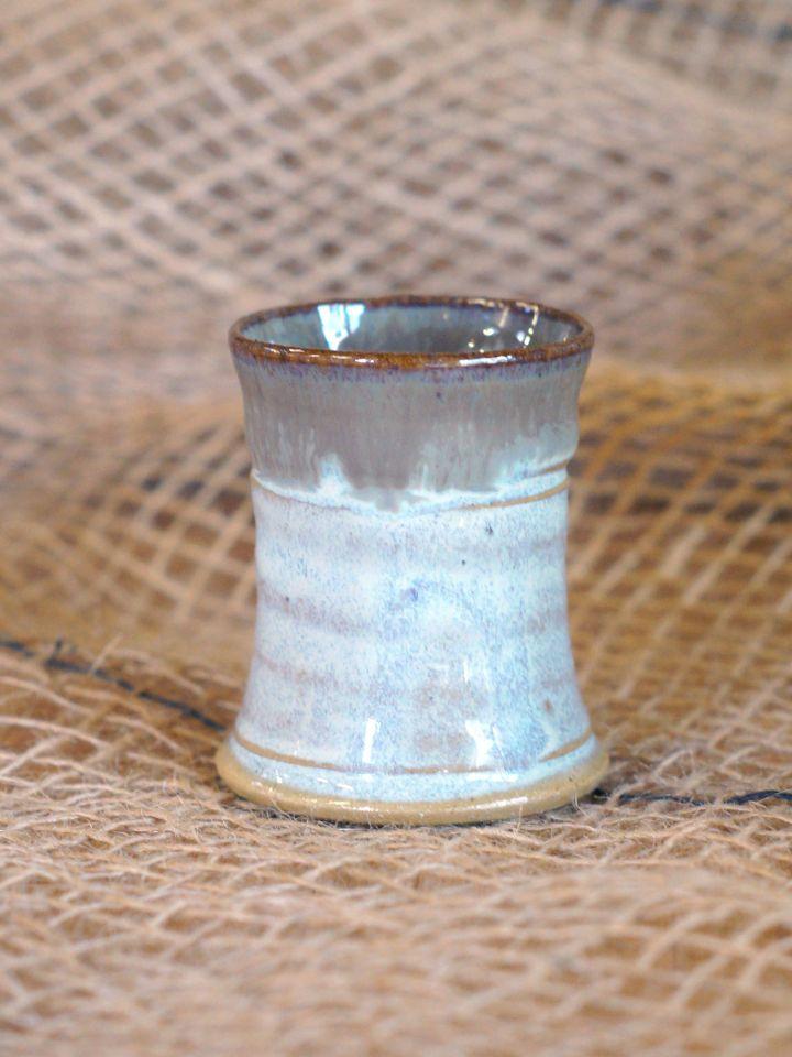 Keramik Schnapsbecher grau