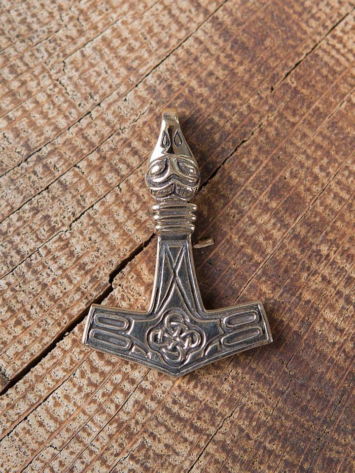 Thorshammer mit Adlerkopf Bronze