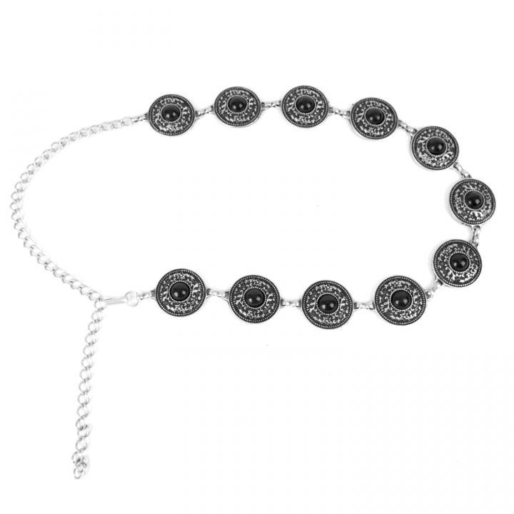 Metallgürtel - Kettengürtel mit Steinen