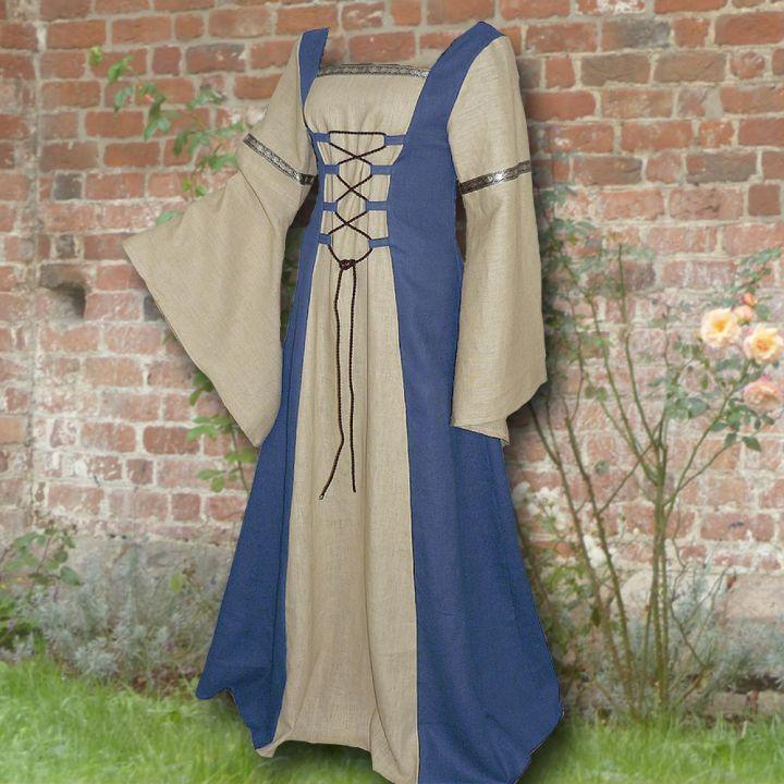 Kleid Elisabeth hellblau-sand
