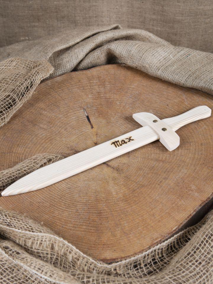 Holzschwert mit individueller Gravur