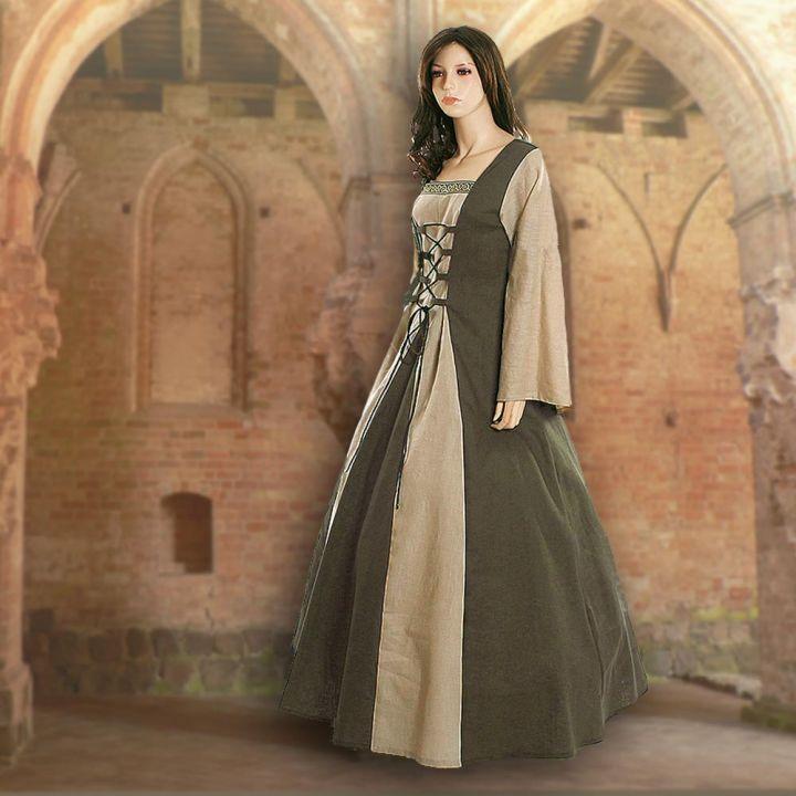 Kleid Fabienne oliv-sand